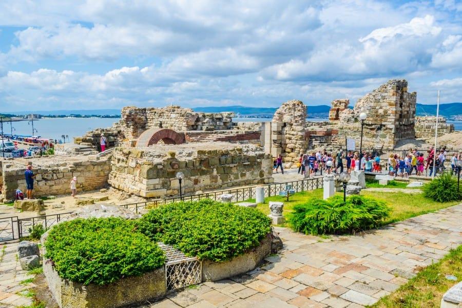 Археологические развалены в Несебре
