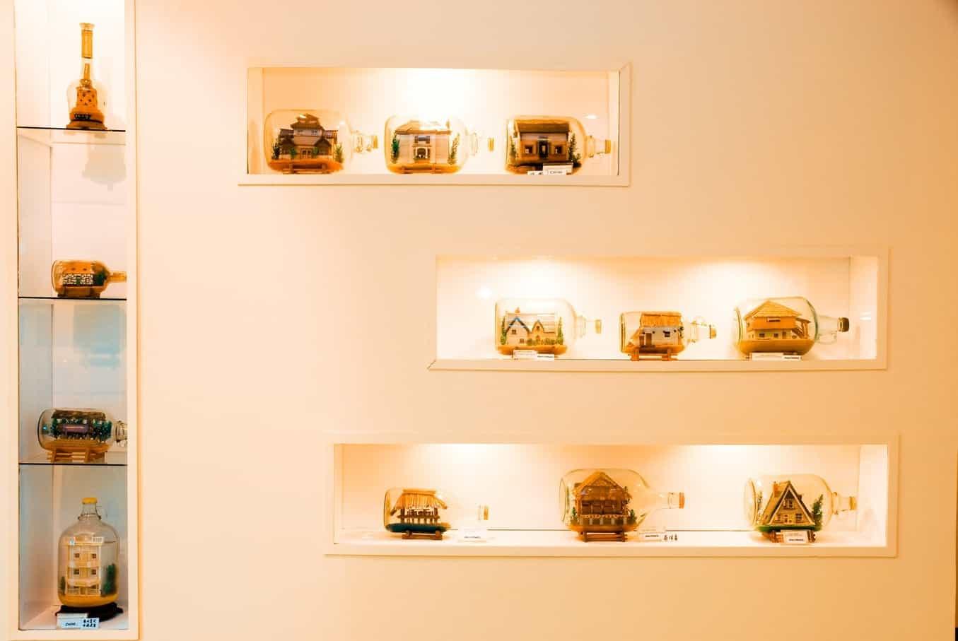 Экспозиции в музее бутылок в Паттайя