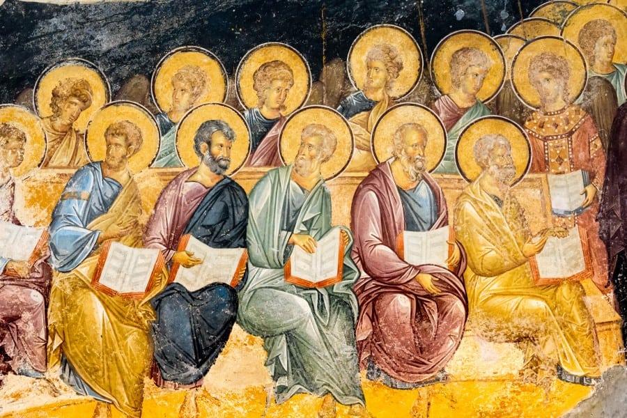Фрески с библейскими мотивами в музее Хора