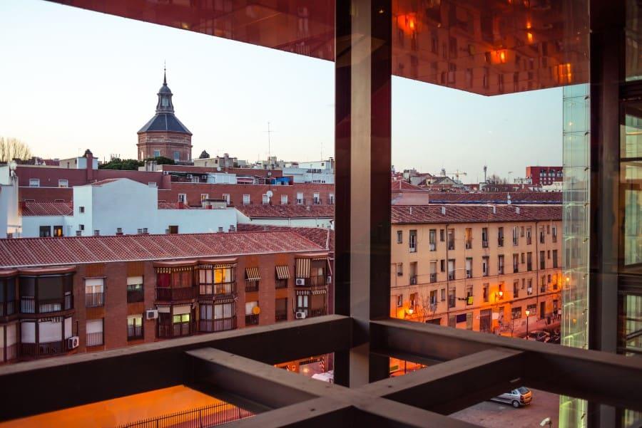 Вид из нового современного здания музея Софии