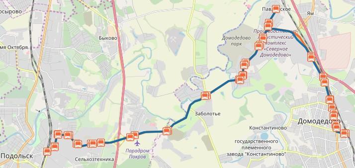 Автобус 57 на карте