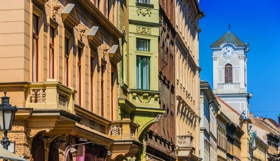 Архитектура улицы Ваци в Будапеште