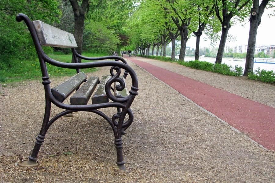 Беговые дорожки на острове Марнит в Будапеште