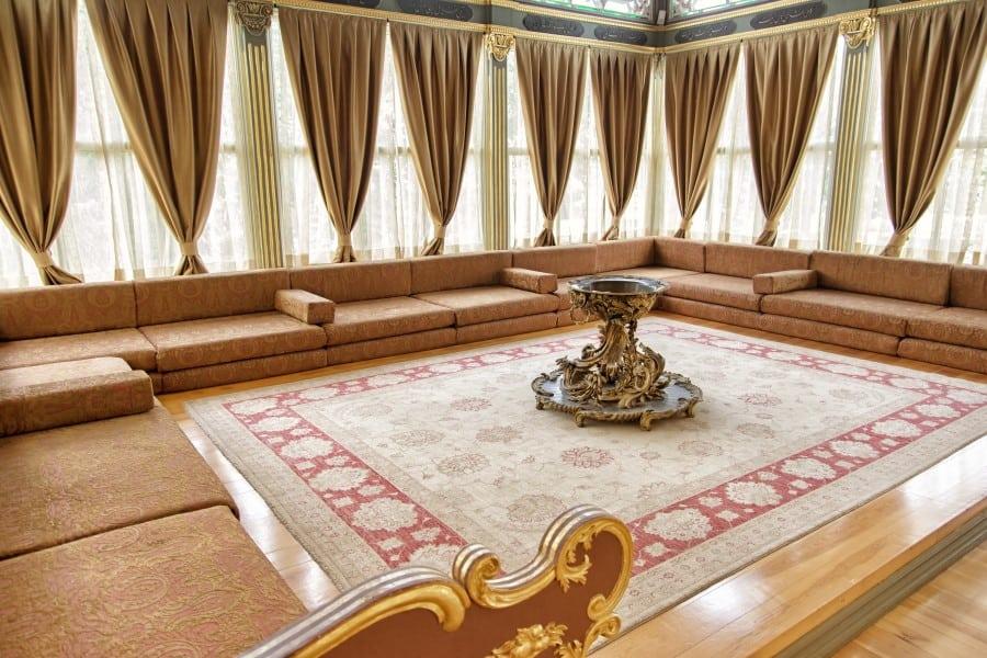 Детали интерьера дворца Топкапы в Стамбуле