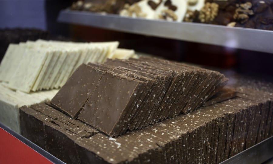 Экспозиция музея какао и шоколада в Брюсселе