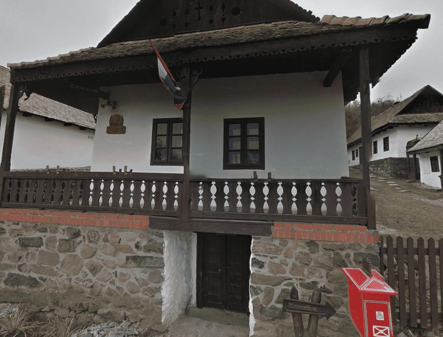 Этнографическая деревня Холлокё типичный домик