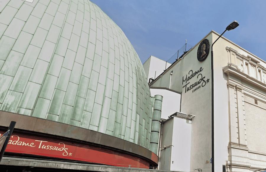 Фасад Музея Мадам Тюссо в Лондоне