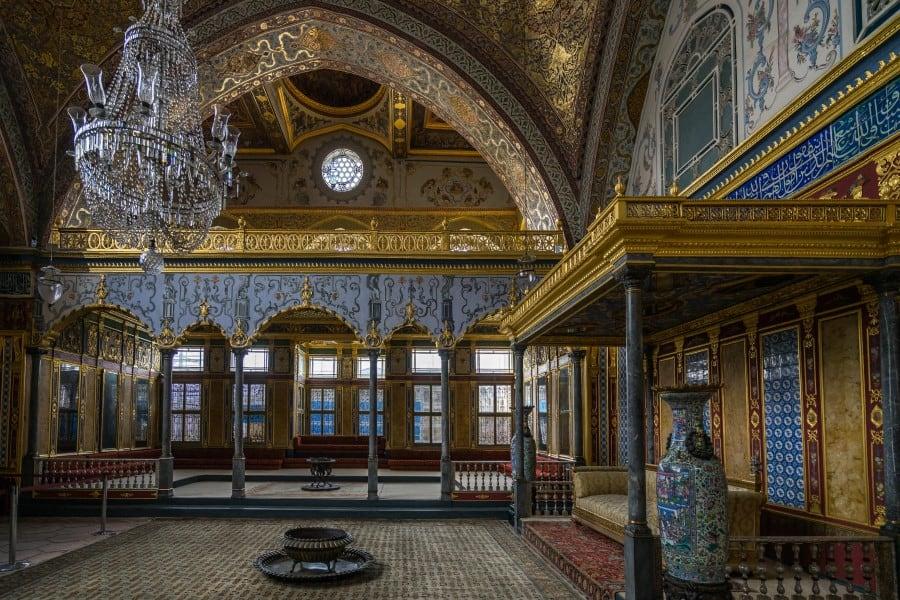 Гарем при дворце Топкапы в Стамбуле в Турции