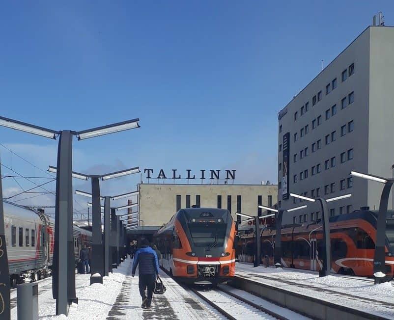 Платформа таллинского вокзала