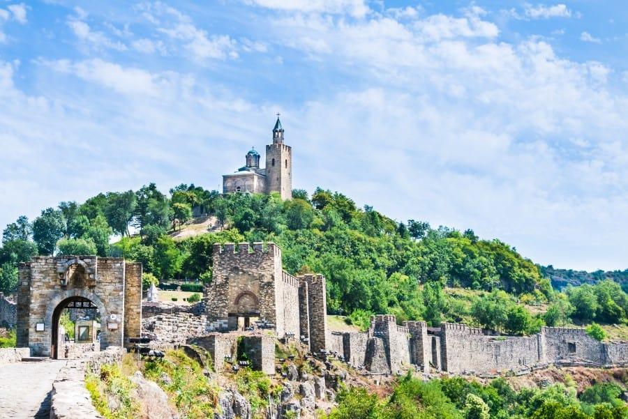 Крепость Царевец в городе Велико-Тырново