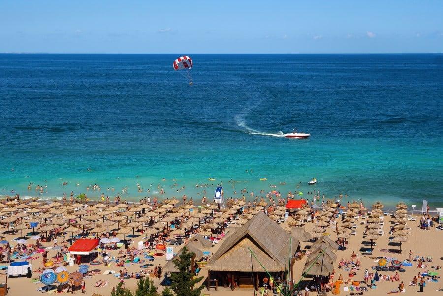 Некоторые Пляжи Солнечного Берега в Болгарии