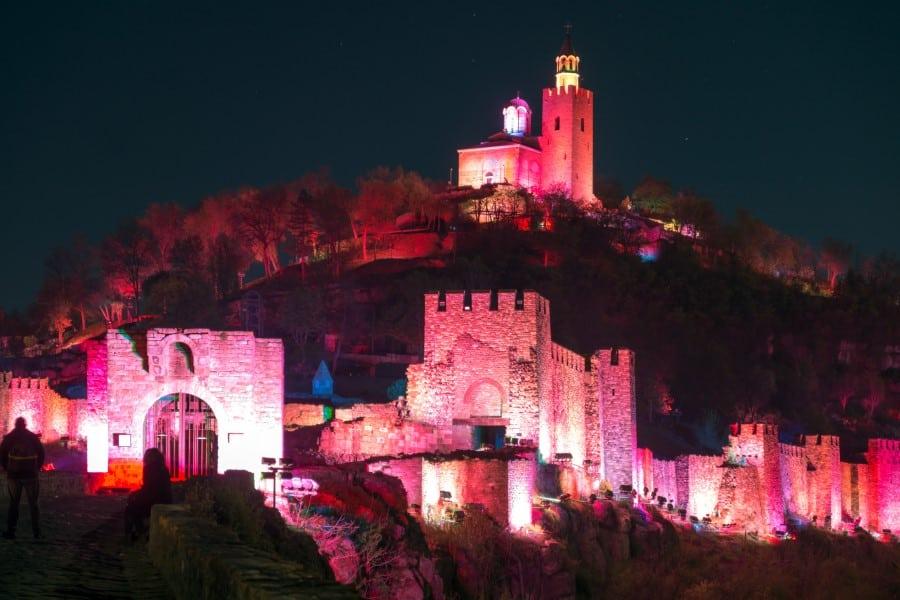 Ночной вид на Крепость Царевец