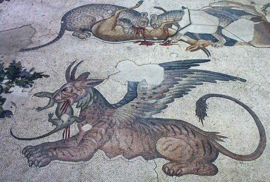 Одна из мозаик сохранившеяся в музее мозаики в Стамбуле