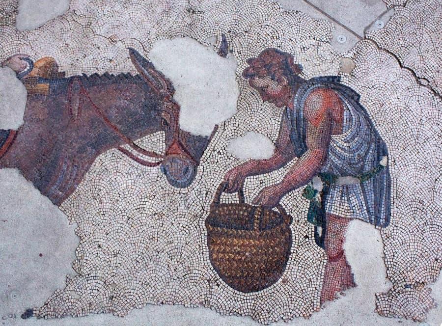 Одна из мозаик в музее мозаик Большого дворца в Стамбуле