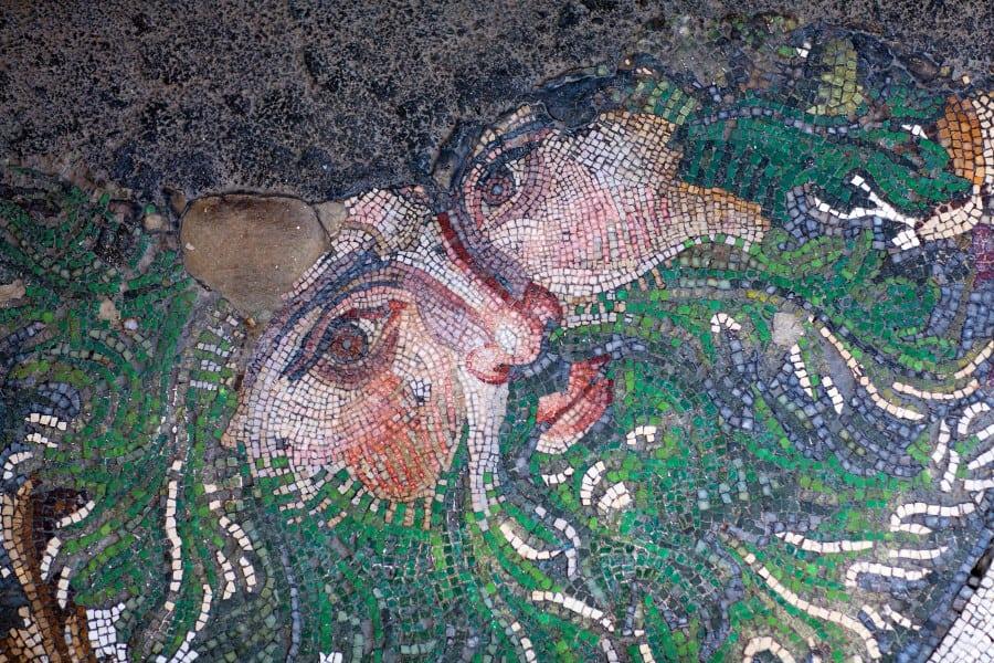 Одна из мозаик в музее мозаик в Стамбуле