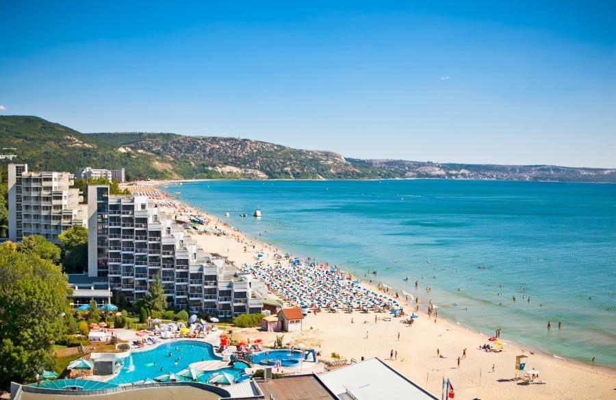 Пляжи курорта Золотые Пески в Болгарии