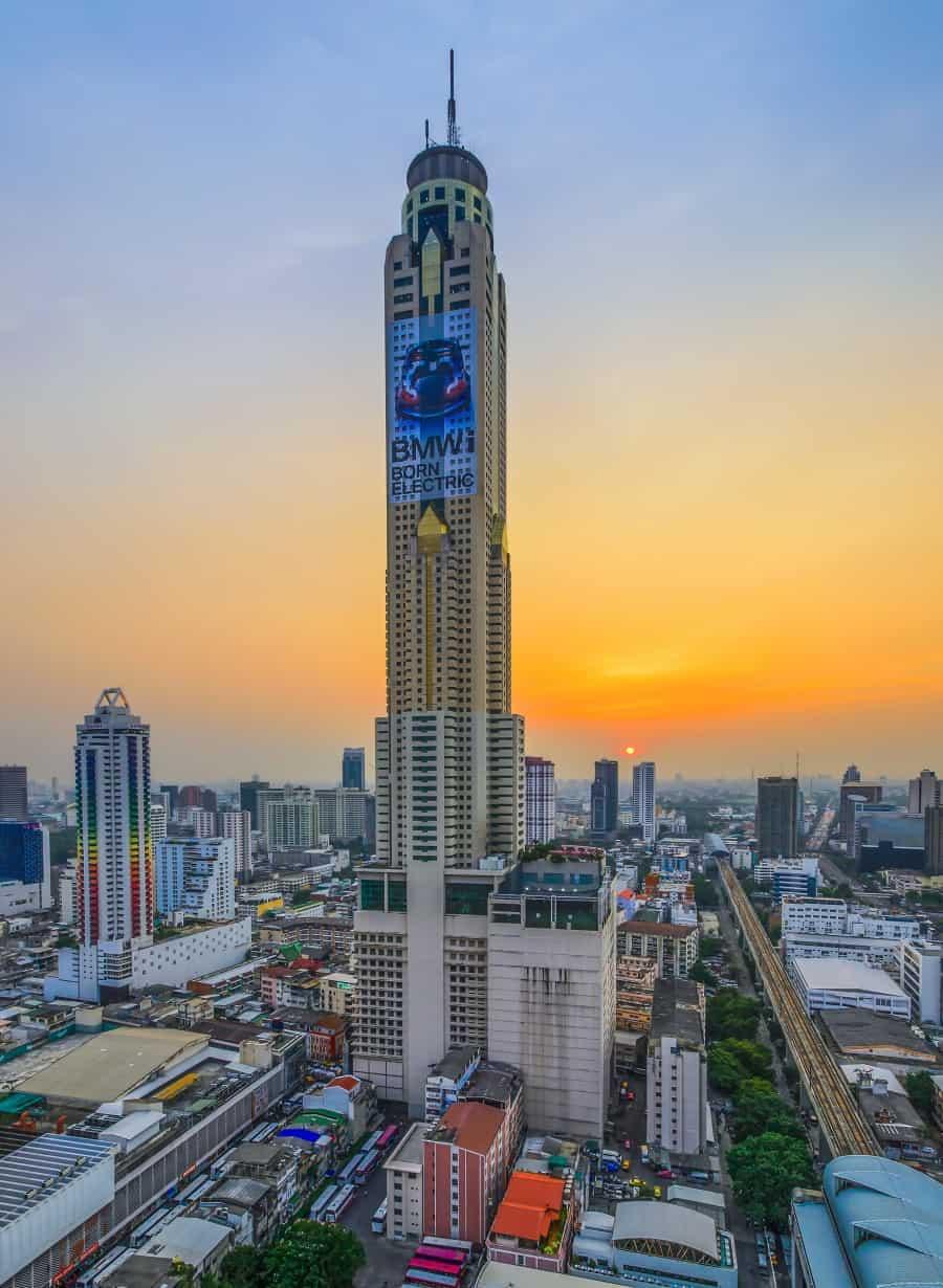 Расположение башни Байок Скай в Бангкоке