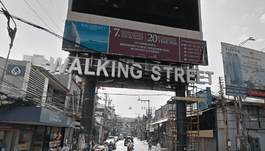 Волкин-стрит в Паттайе Таиланд