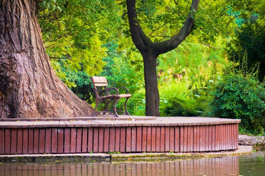 Японский садик на острове Маргит в Будапеште