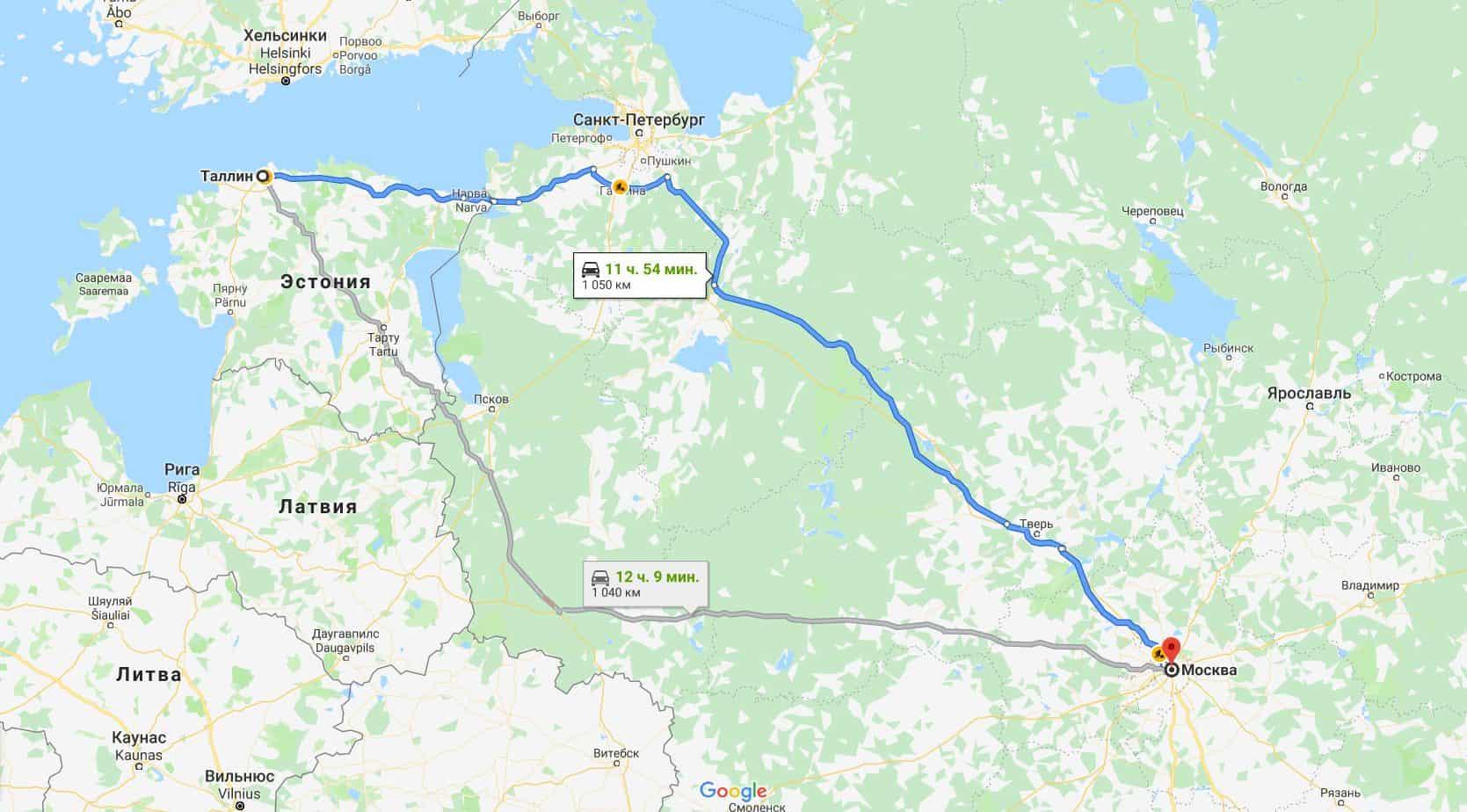 Как добраться до Таллина из Москвы
