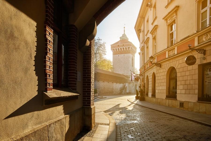 Флорианская улица в Старом городе в Кракове