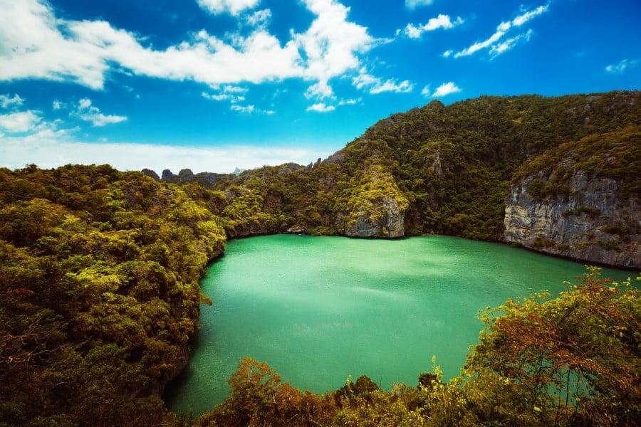 Изумрудное озеро в Морсков национальном парке возле Ко Самуи