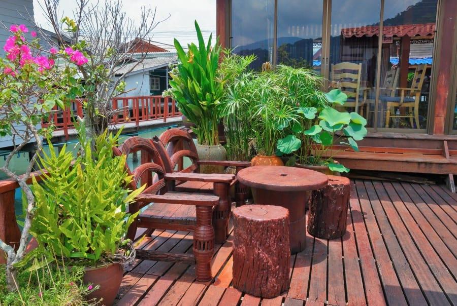 Кафе в рыбацкой деревни Банг Бао на Ко Чанге