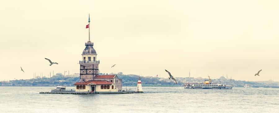 Как выглядит девичья башня в Стамбуле