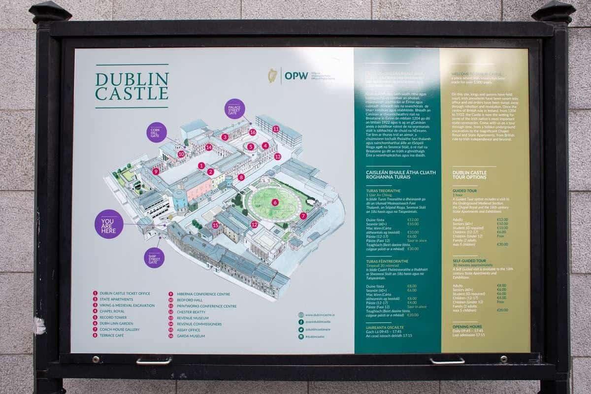 Карта Дублинского замка