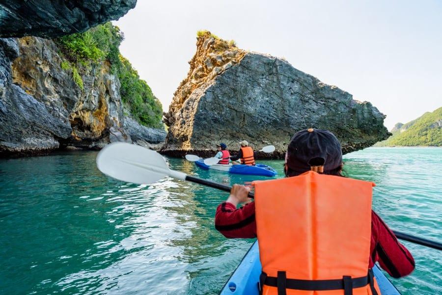 Каякинг в Морском национальном парке Ангтхонг