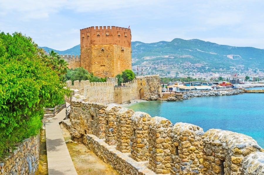 Крепость Алании в Турции