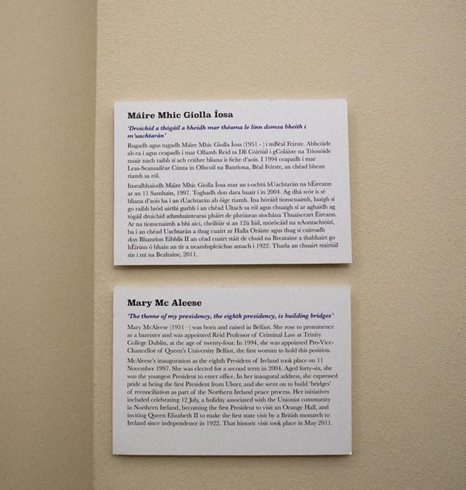 Немного информации об активистах на стенах Дублинского музея