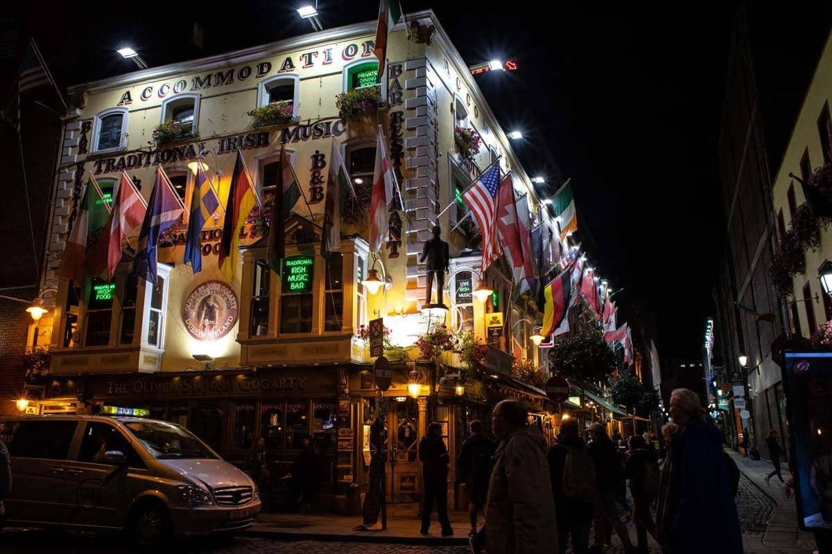 Oliver St. John Gogarty бар, ресторан, отель