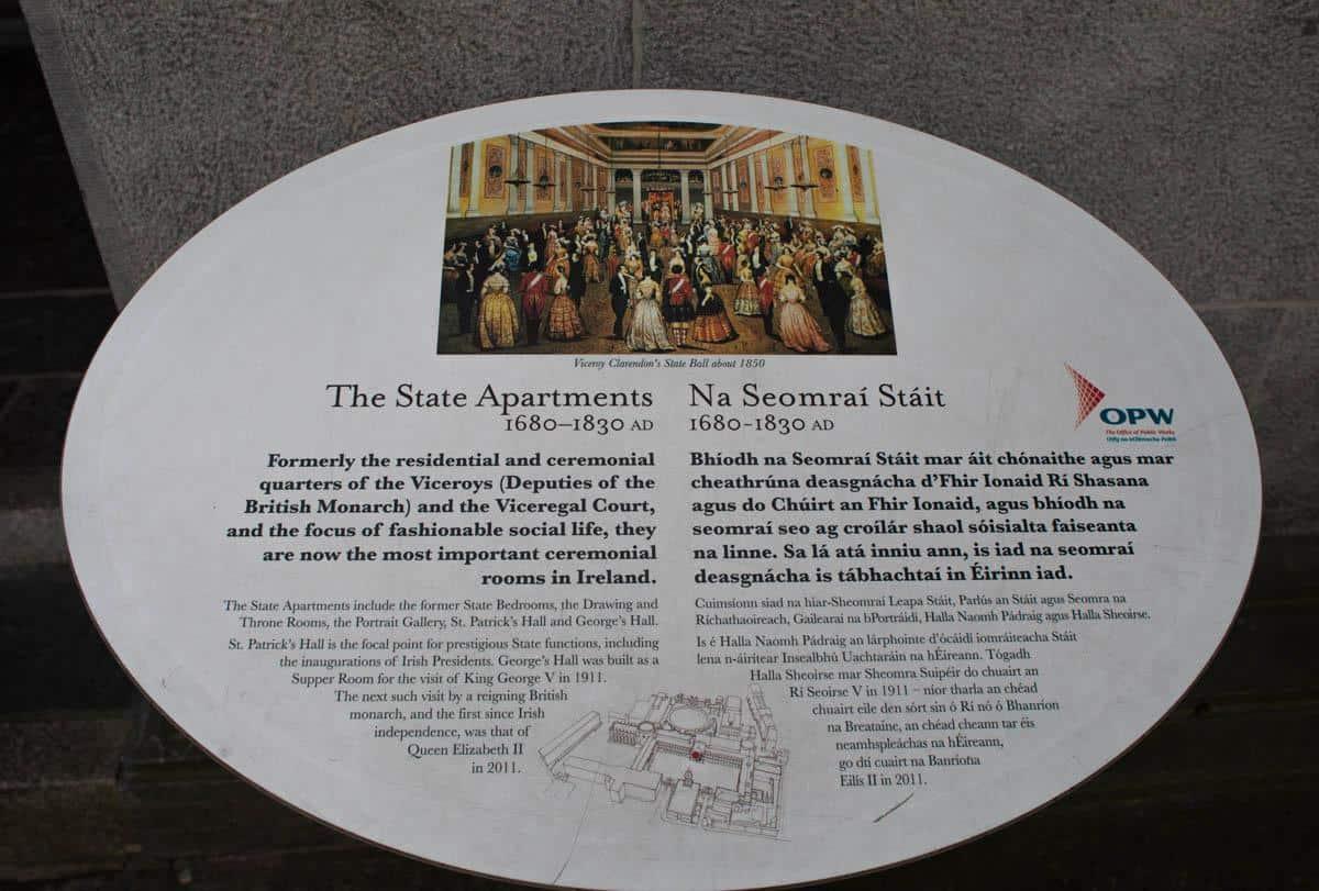 Описание Государственных аппартаментов Дублинского замка