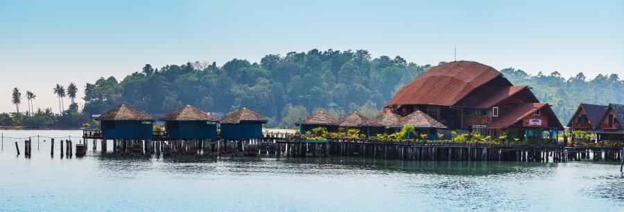 Панорама рыбацкой деревни Банг Бао