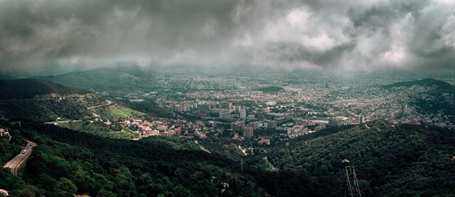 Панорамный вид на город с горы Тибидабо