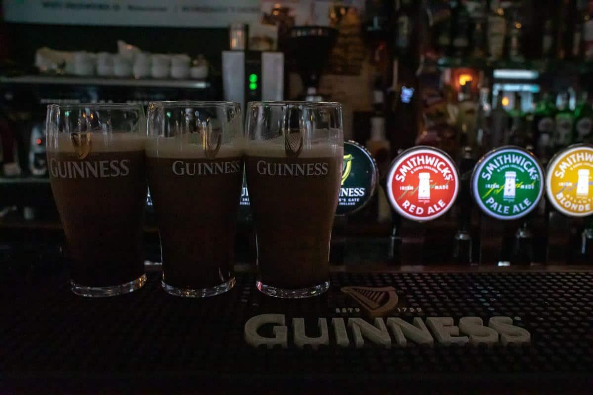 Пиво в барах на Темпл Бар