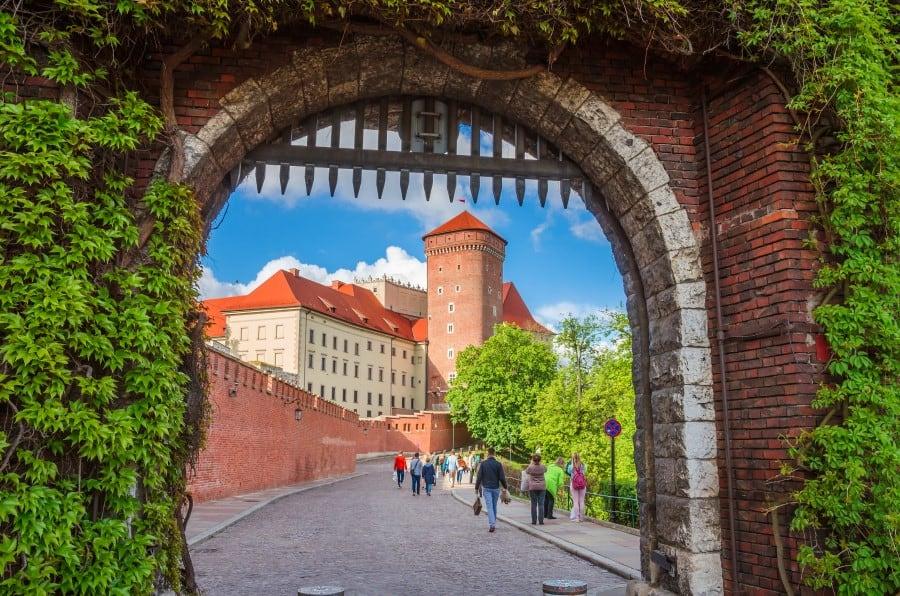 Планты и крепостные стены города Краков