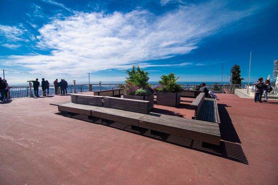 Смотровая площадка на горе Тибидабо в Барселоне
