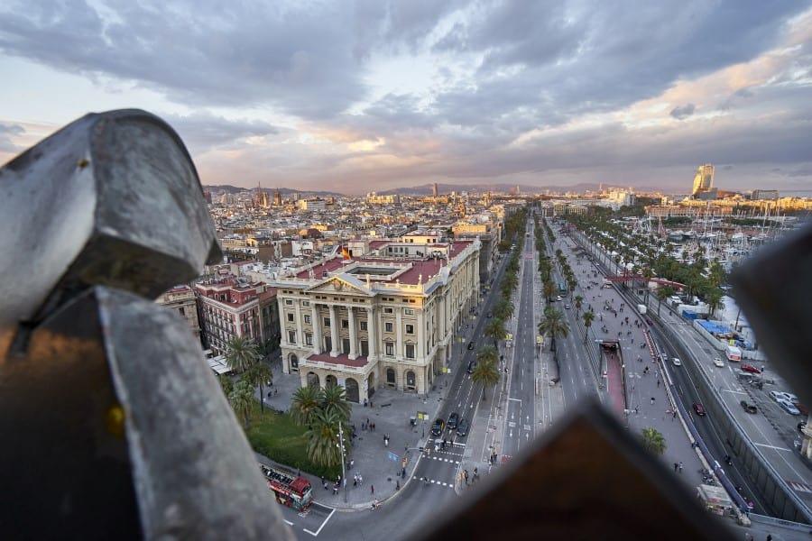 Смотровая площадка на памятнике Колумбу в Барселоне