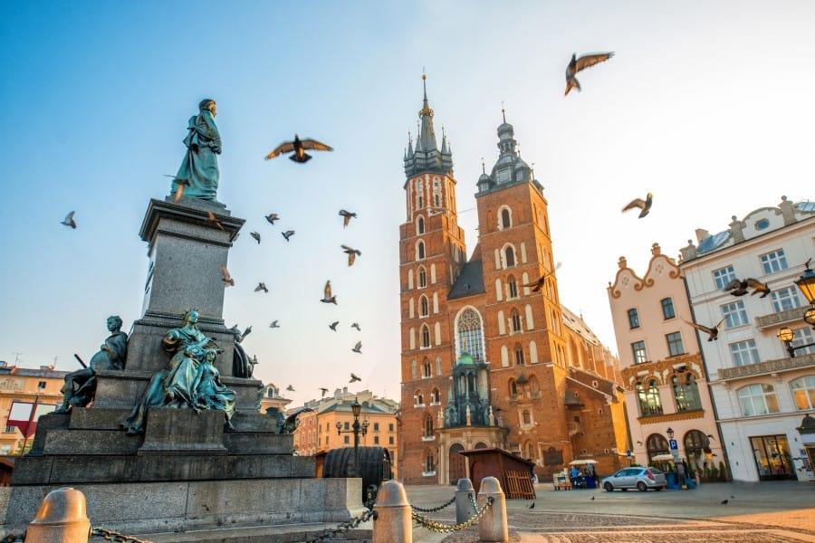 Старый город в Кракове (Польша)