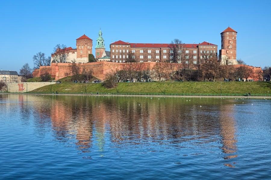 Вавельский замок вид с воды