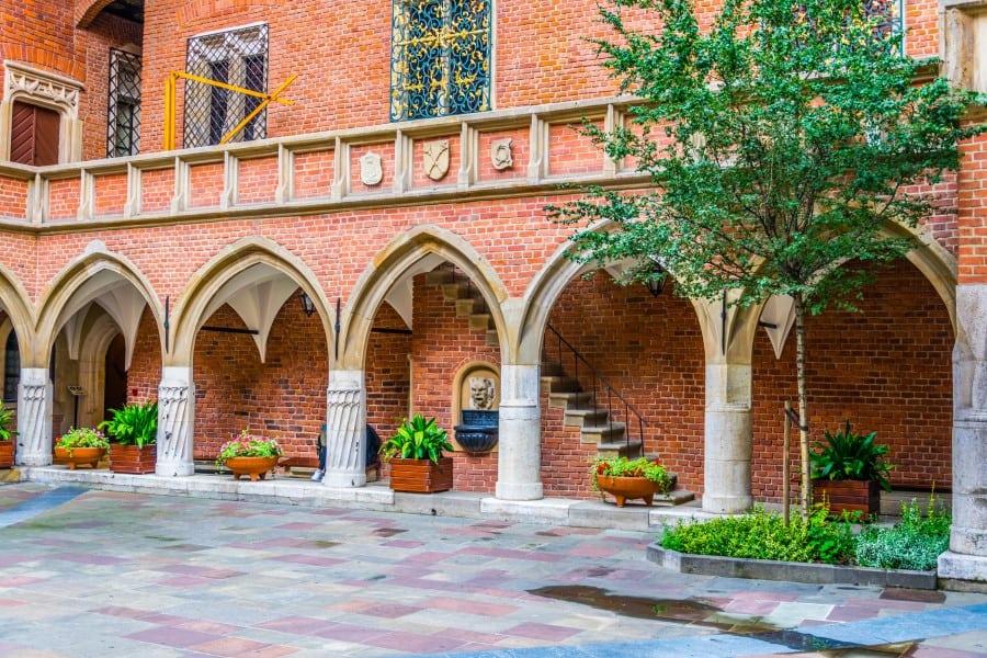 Внутренний дворик Ягеллонского университета