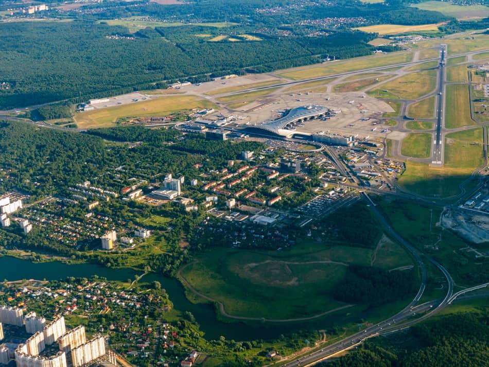 Вид с воздуха на Внуково