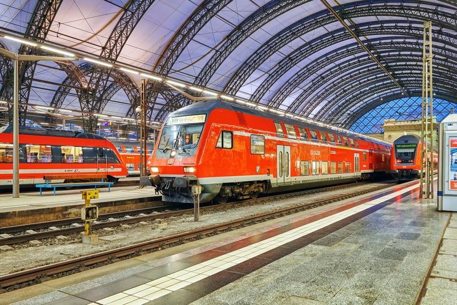 Электричка в Дрездене