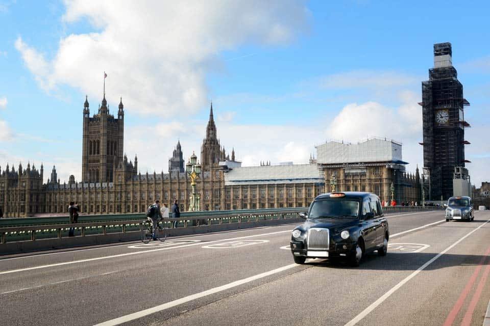 Кэб в Лондоне