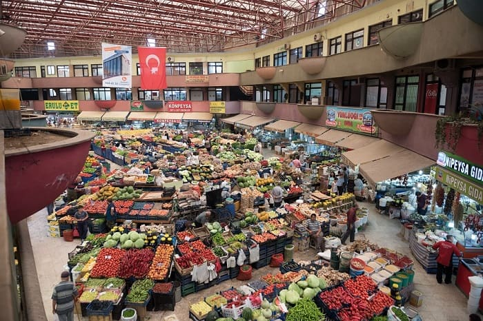 Продукты на рынке в Анталии