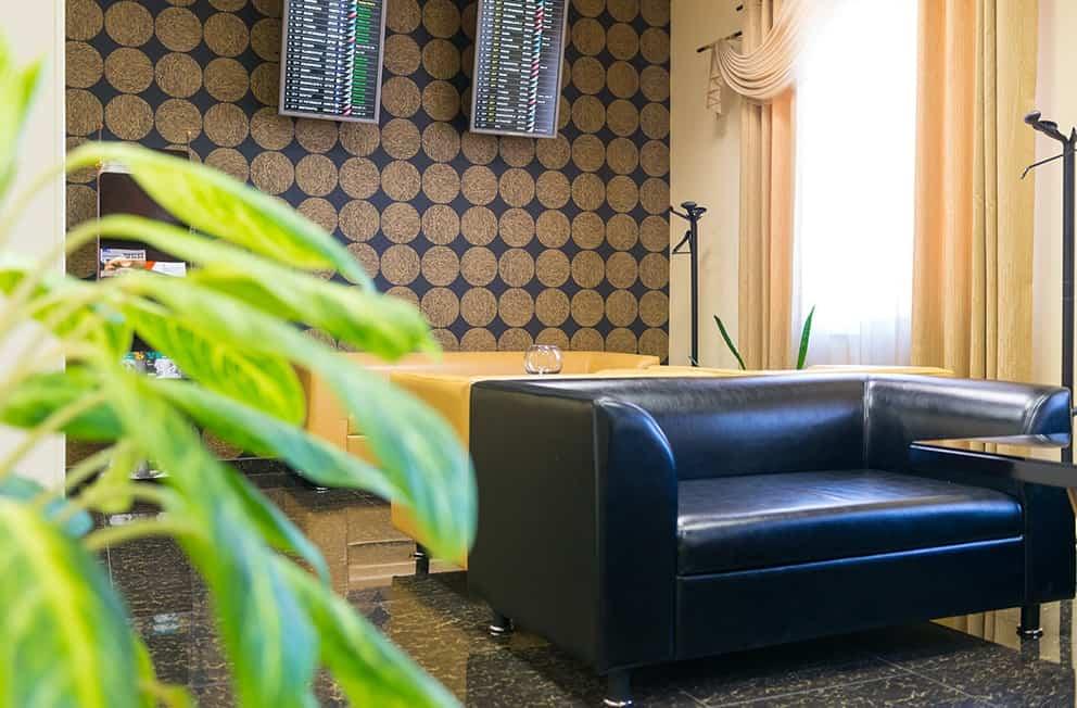 Черной кресло в vip lounge